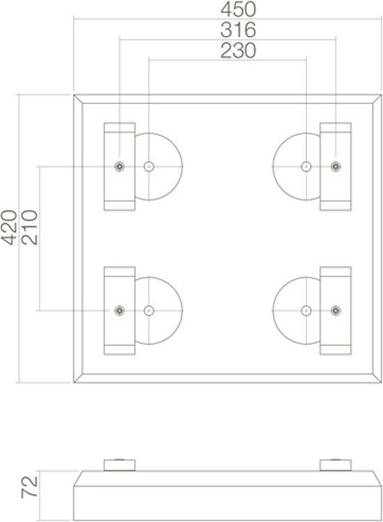 Intersteel - Pakket postkast ondervoet - donkergroen - 45x42x7cm - 0098.960021