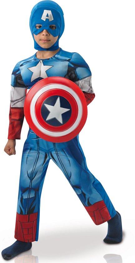 Ongebruikt bol.com   Marvel Avengers Captain America Deluxe Maat 116/128 XB-88
