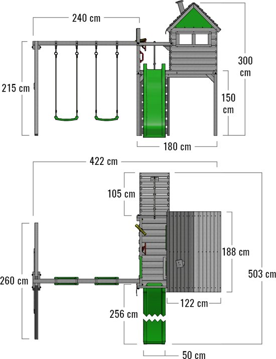 FATMOOSE FunFactory Speeltoestel met dubbelschommel
