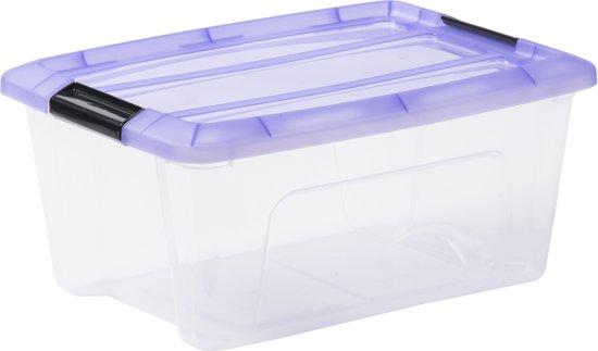 bol | iris topbox opbergbox - 15 l - kunststof - transparant - 5