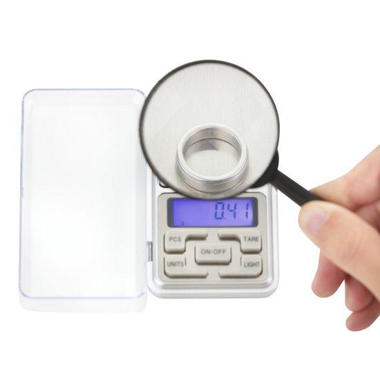 Precisie Mini Weegschaal - Zakweegschaal - Keukenweegschaal 0,01gr / 200gr nauwkeurig