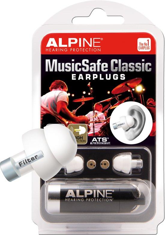 Alpine - Music Safe Classic Wit  - Gehoorbescherming voor Muzikanten - Oordopjes - 1 paar