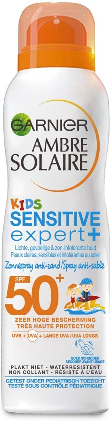 Garnier Ambre Solaire Kids Anti-Zand Zonnespray SPF 50+ - 200 ml - Zonnebrandspray