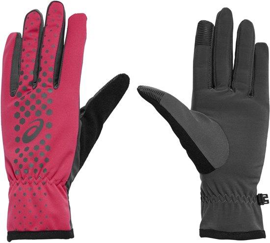 Asics Performance Hardloophandschoenen - Unisex - roze/zilver/zwart