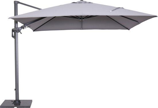 Parasolvoet Voor Parasol 4 Meter.Garden Impressions Hawaii Zweefparasol Inclusief Parasolvoet En Hoes 300x300 Licht Grijs