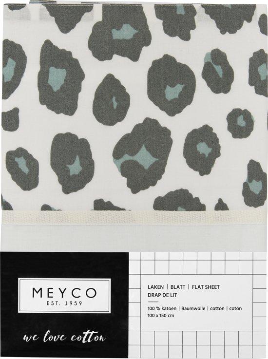 Meyco ledikantlaken Panter - 100x150 cm - stone green