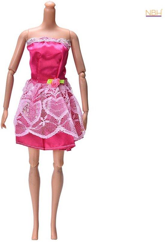 Korte Rode Jurk.Bol Com Korte Rode Jurk Met Kant Voor De Barbie Pop Merkloos