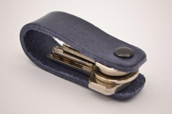 Ideale blauwe sleutelhanger van Italiaans vol nerf leer