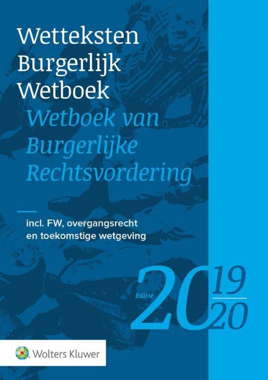 Boek cover Wetteksten Burgerlijk Wetboek - Wetboek van Burgerlijke Rechtsvordering 2019-2020 van  (Paperback)