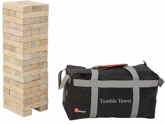 Afbeelding van het spel Stapeltorenspel (Grenen, Stapeltorenspel, in stevige transportas, uit ECO Grenenhout, tot 90 cm hoog) Giga groot blokkenspel