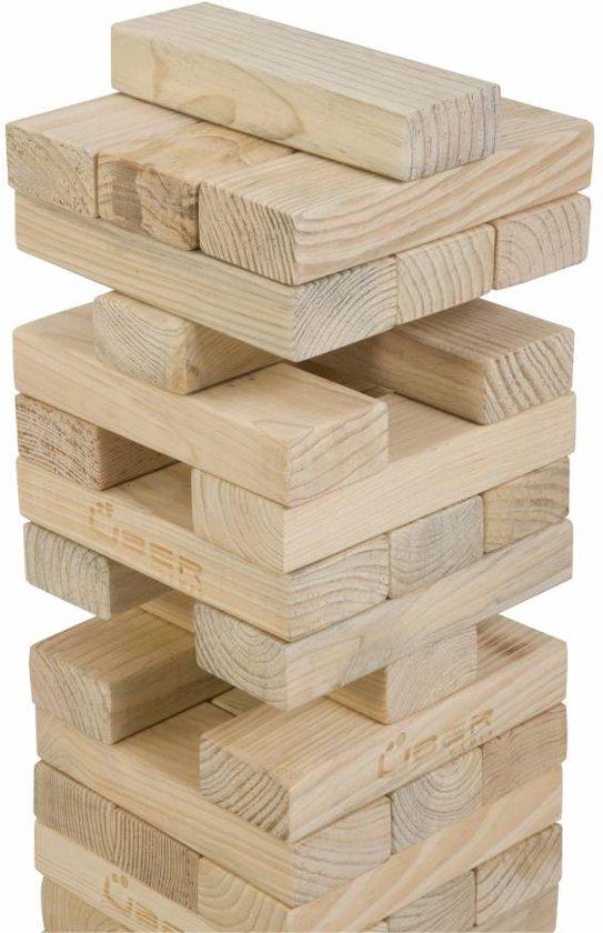 Thumbnail van een extra afbeelding van het spel Stapeltorenspel (Grenen, Stapeltorenspel, in stevige transportas, uit ECO Grenenhout, tot 90 cm hoog) Giga groot blokkenspel