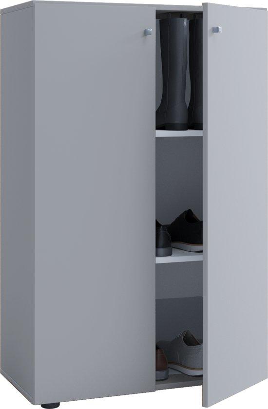 Kledingkast Opbergkast Kinderkamer Vandol Lonal Mini 110 Cm Hoog 3 Opbergvakken Grijs