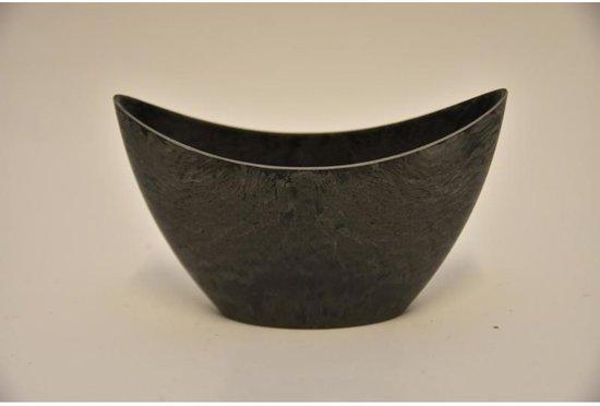 Melamine - Ovale pot grijs 20x9x11cm