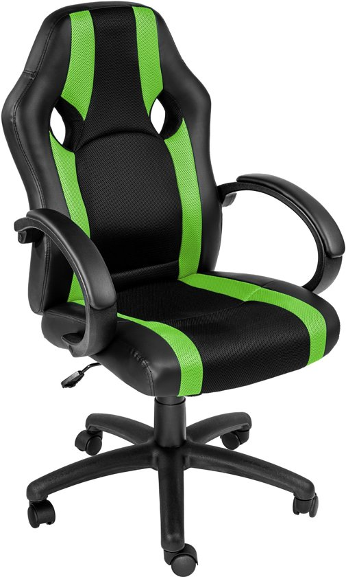 TecTake - bureaustoel Benjamin - Gamestoel groen
