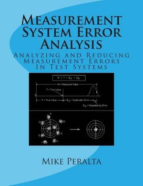 Bol Measurement System Error Analysis 9781470054052 Mike