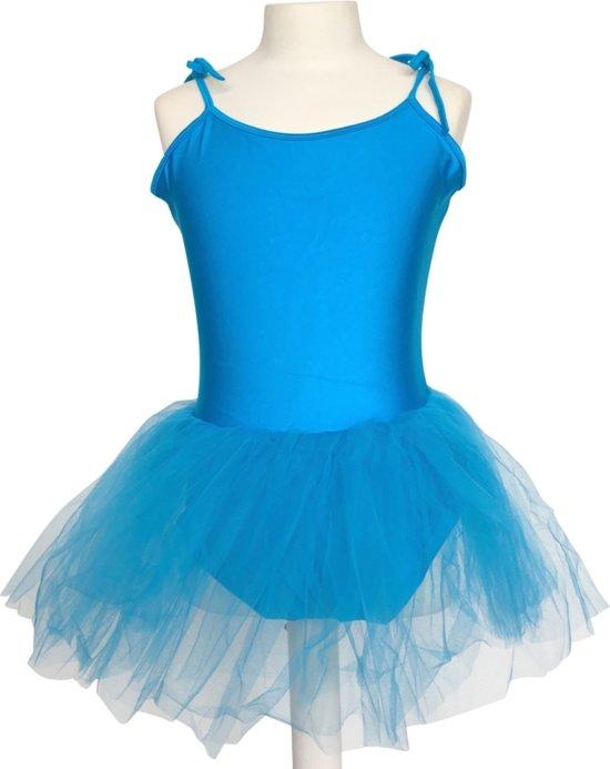 4d122447263bc7 Balletpakje + Tutu - Fel blauw - Ballet - Verkleed jurk - maat 98 104