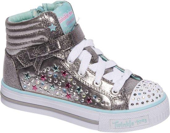 details voor fabrieksprijs geautoriseerde site bol.com | Skechers Kinderen Zilveren sneaker glitters - Maat 35