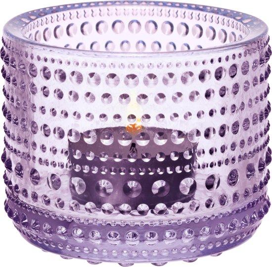 Iittala Kastehelmi - Waxinelichtjeshouder - Sfeerlicht - h 6.4 cm - Lavendel
