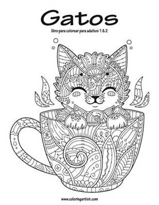 bol.com | Gatos Libro Para Colorear Para Adultos 1 & 2, Nick Snels ...