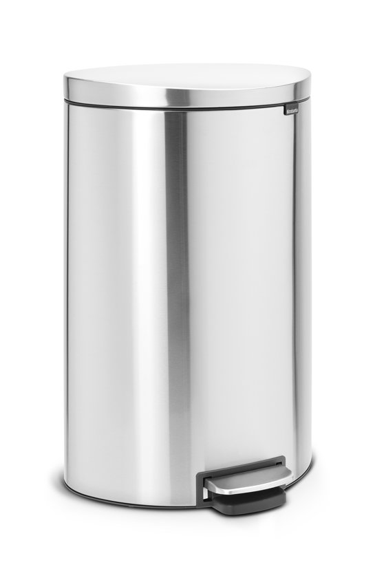 Brabantia Pedaalemmer FlatBack 40 Liter Matt Steel Fingerprint Proof