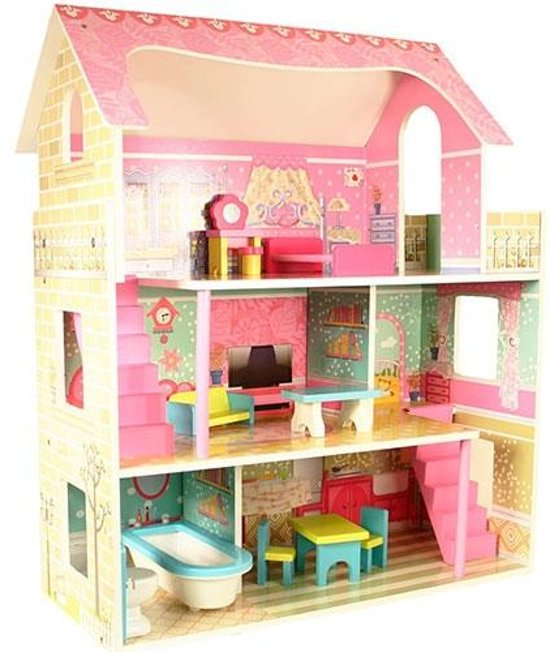 Wonderlijk bol.com | Playwood Poppenhuis Roze Groot, Playwood | Speelgoed RZ-31