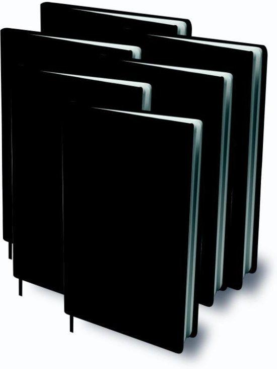 Rekbare boekenkaft A4 - Zwart - 6 pack