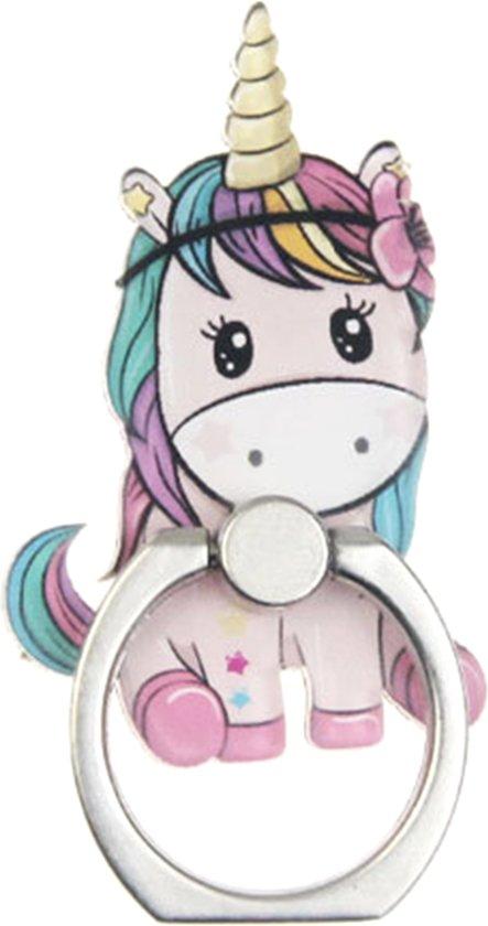 Licht roze zittende Unicorn Ring vinger houder