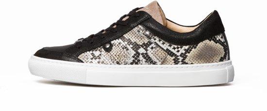 KUNOKA Alex 1.1a snake Sneakers Dames Zwart Slangenprint