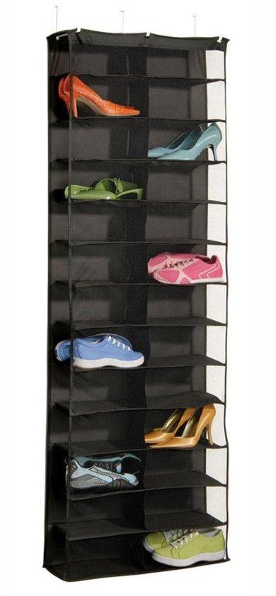 Schoenen Opbergen Aan De Deur.Deur Schoenenrek Hangende Schoenenzak Shoe Organizer Schoenen Opbergen Opbergsysteem Zwart
