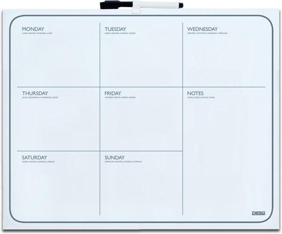 DESQ magnetische weekplanner 40x50