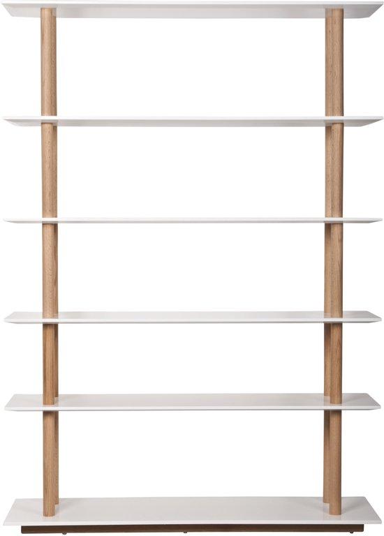 Zuiver high on wood boekenkast wit hout - Boekenkast hout en ijzer ...
