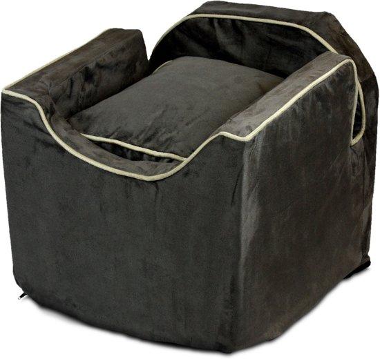 Snoozer Lookout - Autostoel - Autozitje voor honden - Small 48x38x43 cm - Dark Chocolate