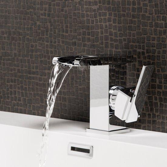 Badplaats Wastafelkraan Londen LED Mengkraan chroom - Een greep waterval uitvoering