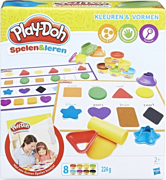 Bolcom Play Doh Kleuren En Vormen Klei Hasbro Speelgoed