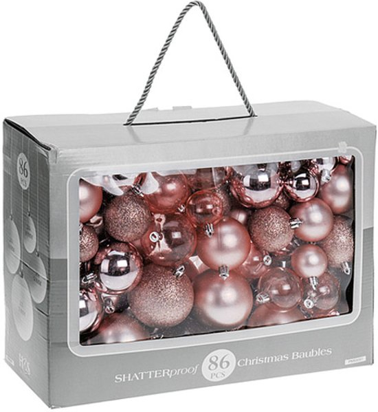 Bol Com Home Styling Kerstballen 86 Delig Kunststof