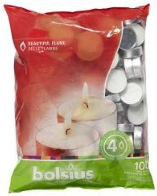 Bolsius - Theelichten - 100 stuks