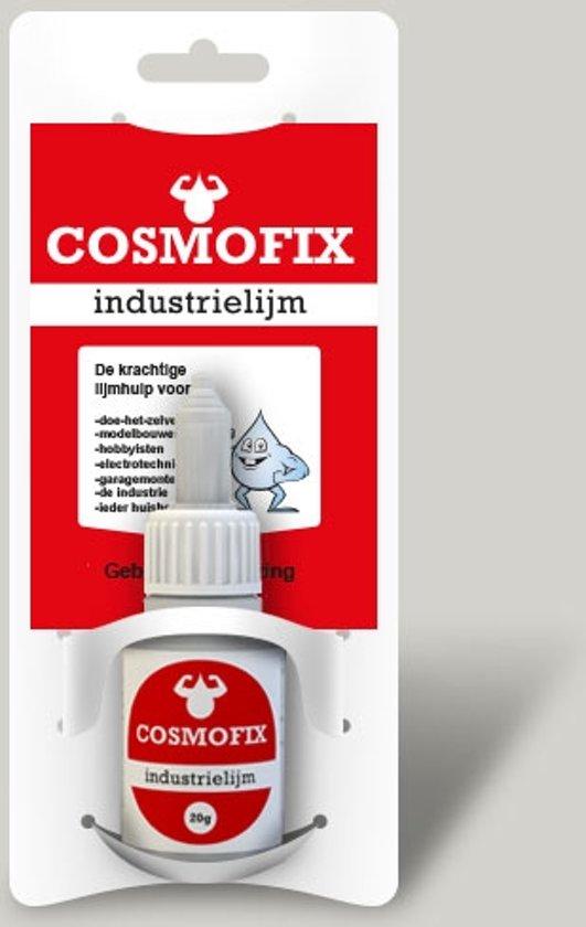 Cosmofix Industrielijm, transparante secondelijm 20 gram met handige 3 standen doseer dop! Brievenbus pakketje!