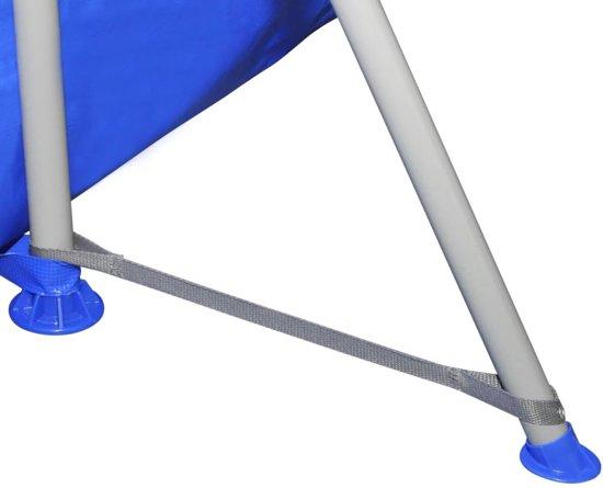 vidaXL Opbouw zwembad met ladder 394 x 207 x 80