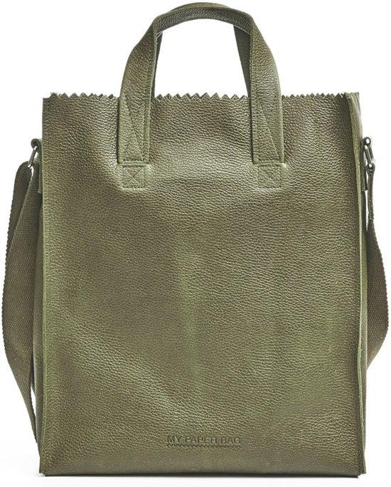 MYOMY My Paper Bag Cross Body Rambler Dark Olive – Schoudertas – Groen