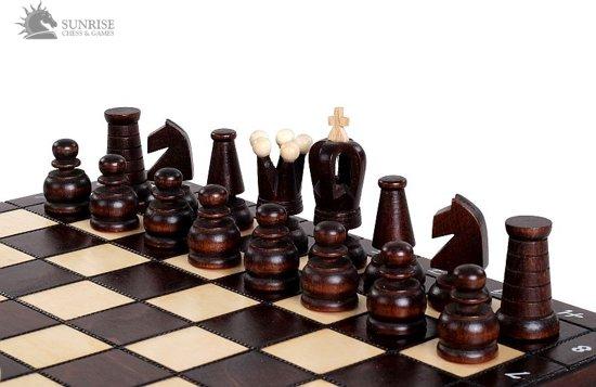 Sunrise Royal Maxi- Luxe schaakspel schaakbord (Hout)