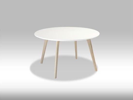 Bol.com solliden livie salontafel rond 80 cm wit eiken
