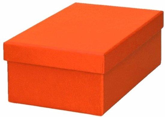 Oranje cadeaudoosje 17 cm rechthoekig - kadodoosjes / cadeauverpakking