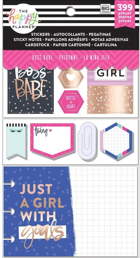 Me and My Big Ideas - Happy Planner Note Cards/Sticky Note Multi Pack - Boss Babe - 399Pieces