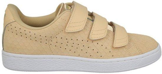 4795bd9a168 bol.com | Puma Sneakers Basket Strap Exotic Skin Suede Dames Beige Mt 39