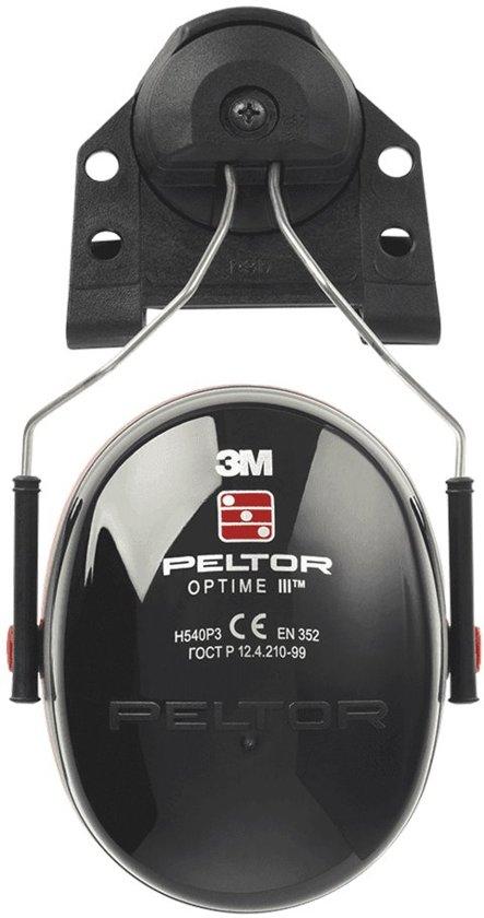 Oorkappen 3M PELTOR OPTIME III P3B, klem/steek/helmbevestiging , zwart