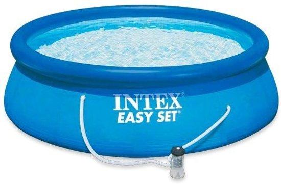 Easy Set opblaaszwembad met filterpomp blauw 305 cm