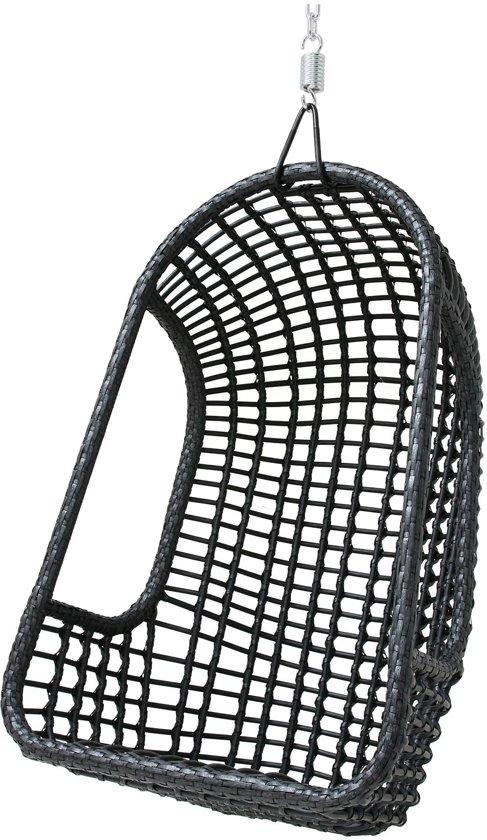 Hang Schommelstoel Voor Buiten.Bol Com Hangstoel Buiten Zwart 110x77x55cm