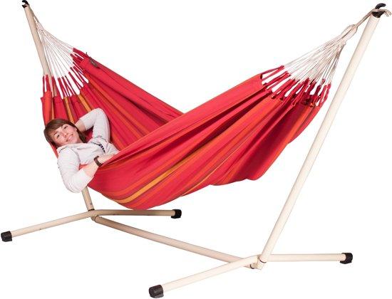 Hangmatset: 2-persoons hangmat CURRAMBERA cherry + 2-persoons hangmat Standaard NEPTUNO