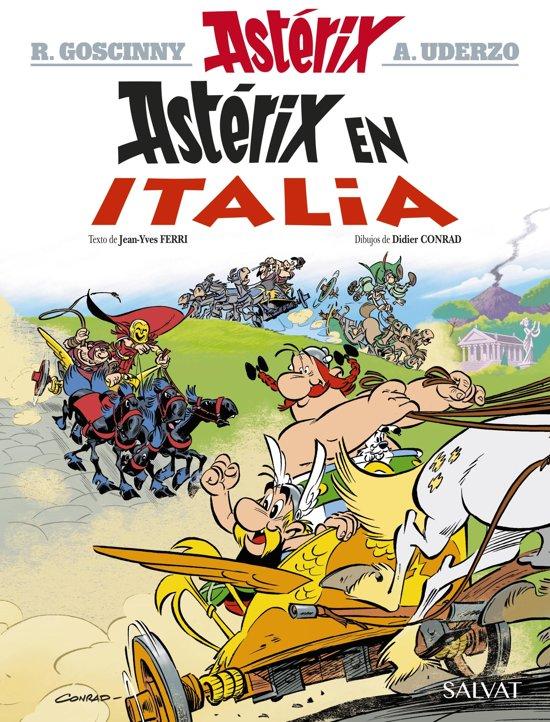 Boek cover Astérix en Italia van Rene Goscinny (Onbekend)