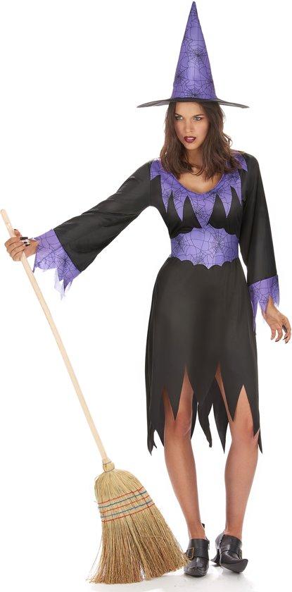 Paarse heksen kostuum voor dames - Verkleedkleding